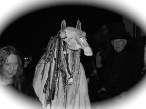 Viv & Mari Lwyd Larcher - Photo credit: Michelle Elliot